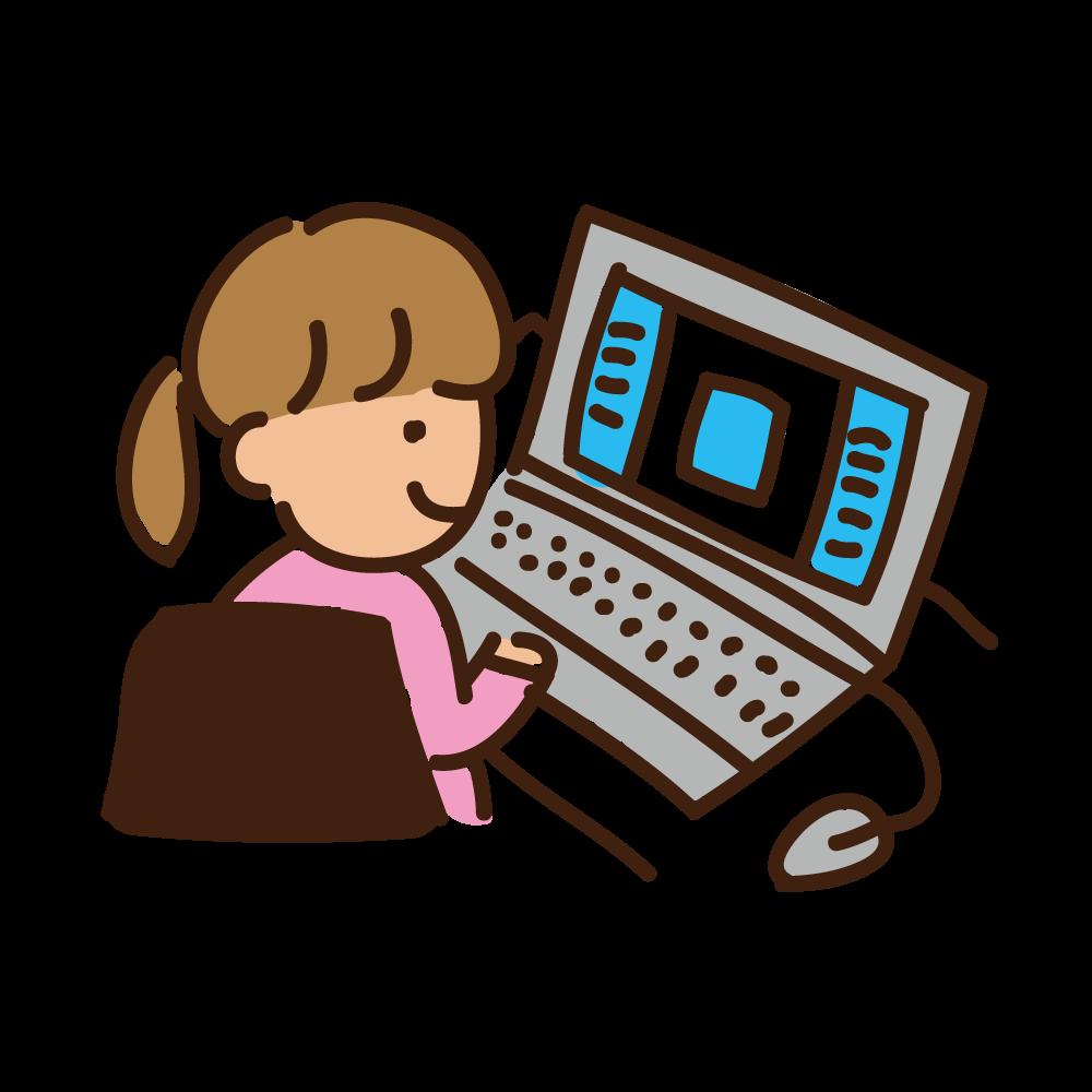 PC作業イラスト